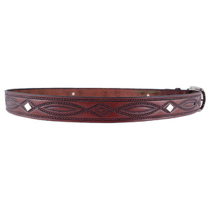 Rope Embossed Leather Concho Belt 670C