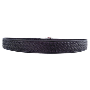 Basket Weave Embossed Leather Belt 627