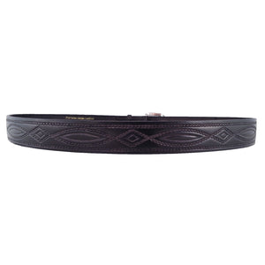 Rope Pattern Embossed Leather Belt 670