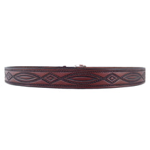 Load image into Gallery viewer, Rope Pattern Embossed Leather Belt 670