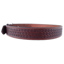 Load image into Gallery viewer, Basket Weave Embossed Leather Belt 727