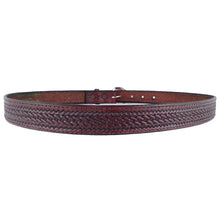 Load image into Gallery viewer, Basket Weave Embossed Leather Belt 525