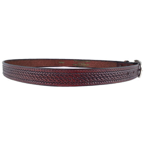 Basket Weave Embossed Leather Belt 525