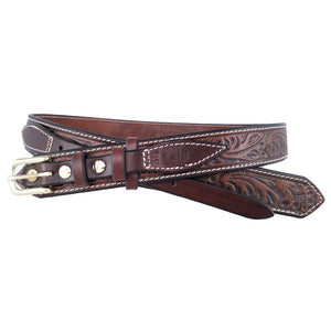 Leaf Pattern Leather Ranger Belt 655R