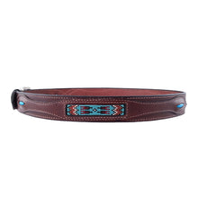 Load image into Gallery viewer, Native American Beadwork Turquoise Belt 620T