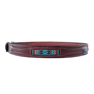 Native American Beadwork Turquoise Belt 620T