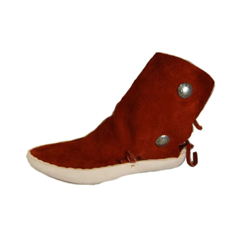 Women's Two Button Moccasins w/ Thick Leather Sole
