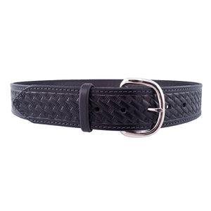 Basket Weave Embossed Leather Belt 727