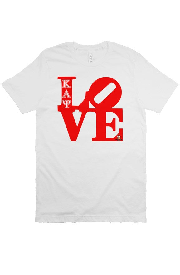 Kappa Alpha Psi LOVE White T-Shirt