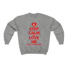 Load image into Gallery viewer, KEEP CALM and LOVE ME K-Heart Unisex Heavy Blend™ Crewneck Sweatshirt