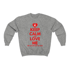 KEEP CALM and LOVE ME K-Heart Unisex Heavy Blend™ Crewneck Sweatshirt