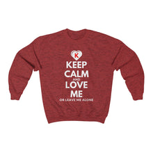 Load image into Gallery viewer, KEEP CALM and LOVE ME K-Heart Red Unisex Heavy Blend™ Crewneck Sweatshirt
