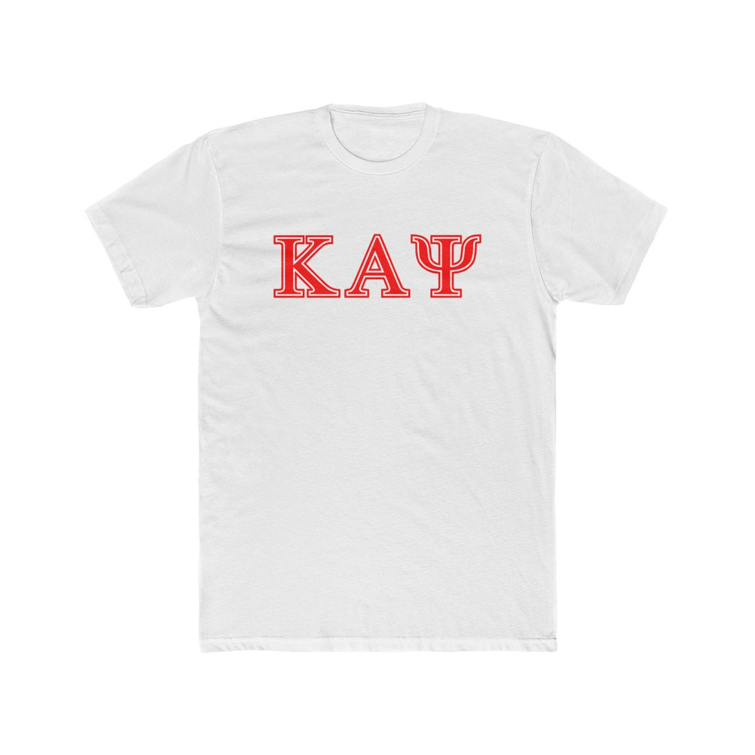 Kappa Alpha Psi Cotton Crew White Tee