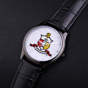 Kappa Alpha Psi Coat of Arms Watch black leather band