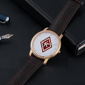Nupe Diamond Watch brown leather band