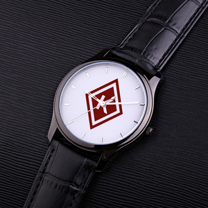Nupe Diamond Watch black leather band