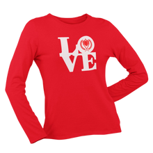 Load image into Gallery viewer, Kappa Silhouette LOVE Long Sleeve Shirt red