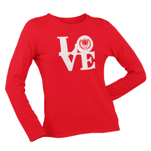 Kappa Silhouette LOVE Long Sleeve Shirt red