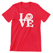 Load image into Gallery viewer, Kappa Silhouette LOVE T-Shirt red