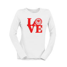 Load image into Gallery viewer, Kappa Silhouette LOVE Long Sleeve Shirt white