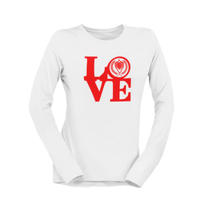 Kappa Silhouette LOVE Long Sleeve Shirt white