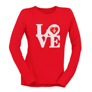 Kap Apparel LOVE Women's Long Sleeve Shirt red