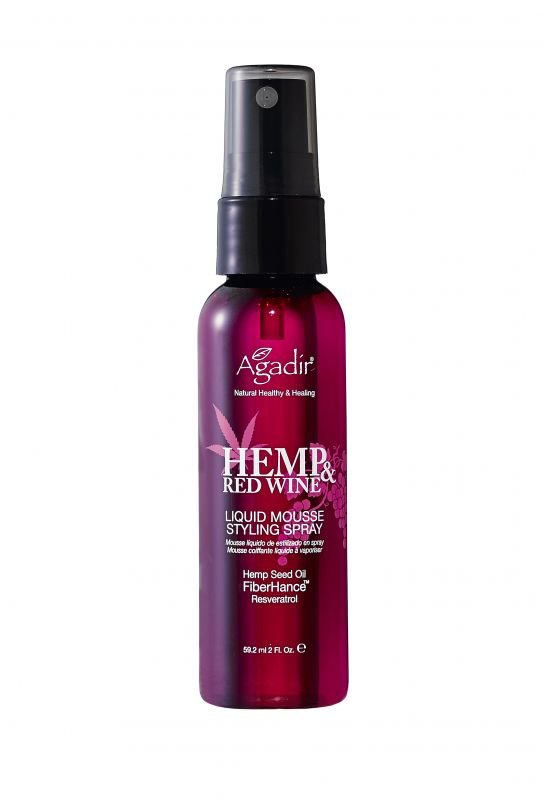 Hemp & Red Wine: Liquid Mousse Styling Spray - 2oz.