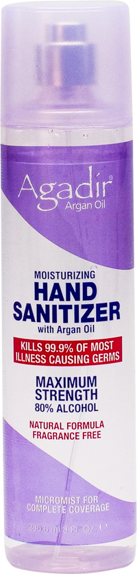 8 OZ HAND SANITIZER SPRAY with Argan Oil