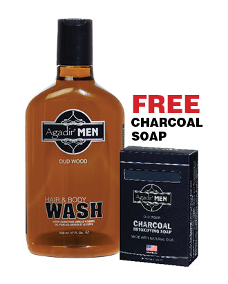 17 oz. BODY WASH w. FREE Charcoal Soap