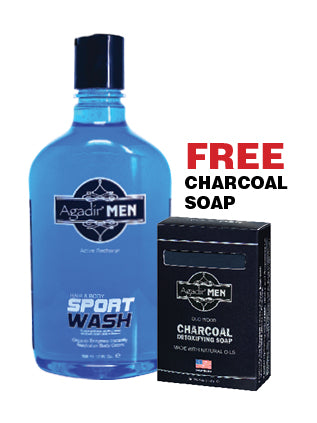 17 oz SPORT WASH w/ FREE Charcoal Soap