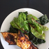Grilled Zucchini with a Basil Kale and Baby Beet Leaf Salad