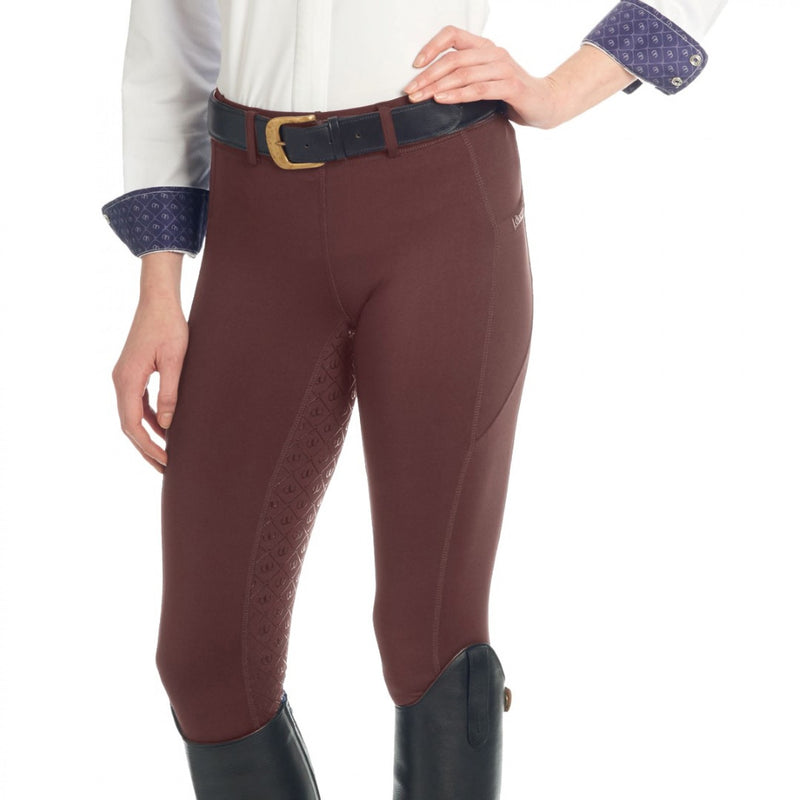 OVATION - Pantalon d'équitation AEROWICK SILICONE FULL SEAT TIGHT, Femme/ Brun