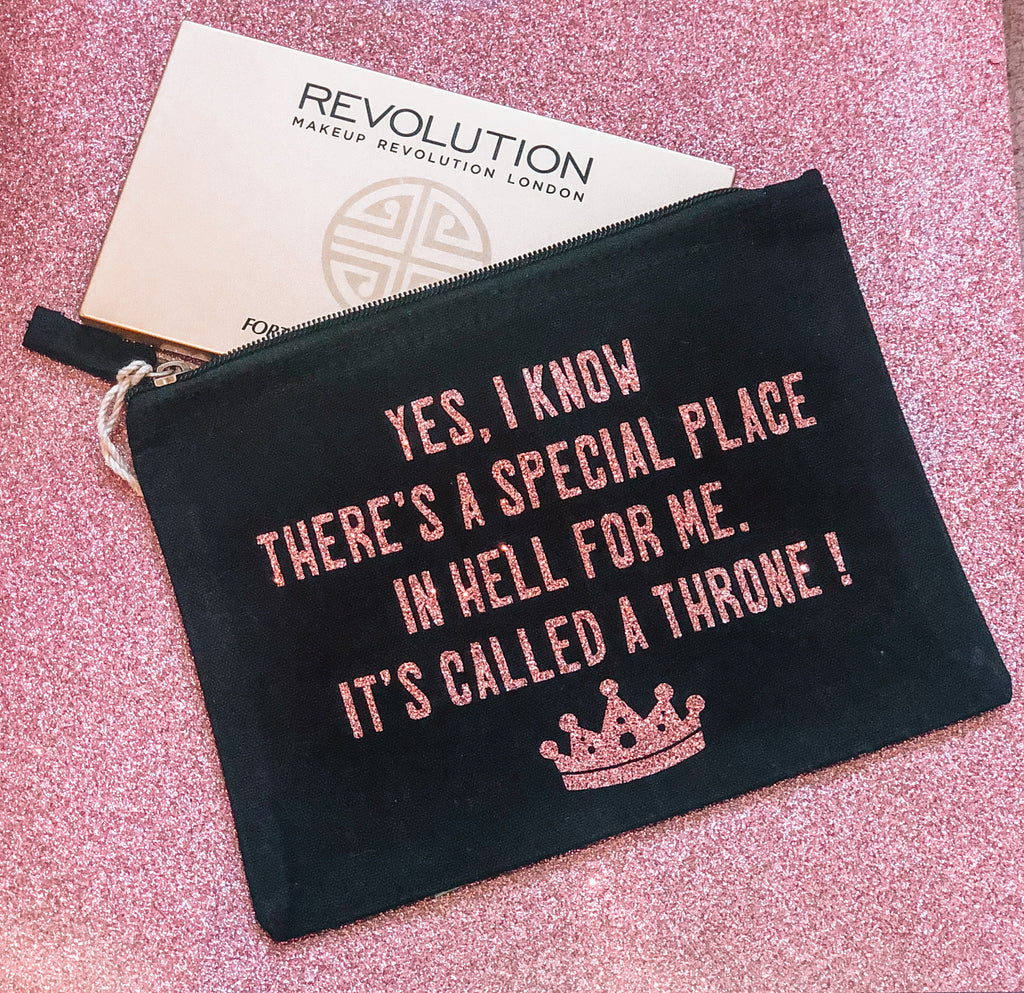 'THRONE IN HELL' MAKE UP POUCH