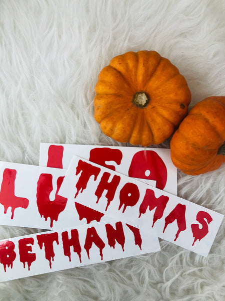HALLOWEEN : Name Decal