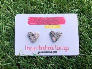 IZZY Illusion Earrings (Medium Heart Stud)