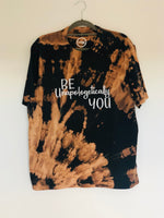 RTG : Be Unapologetically You - BLEACH DYE TEE - LARGE