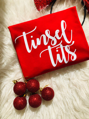 RTG: Tinsel Tits Tee - SMALL