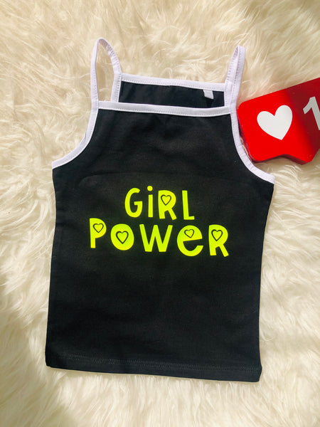 RTG: Girl Power Strappy Vest - 5/6 YEARS