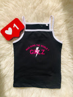 RTG: Girls Run The World Strappy Vest - 5/6 YEARS