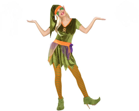 Costume per Adulti Folletto Verde (4 Pcs)