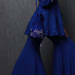 Load image into Gallery viewer, Cobalt Blue Embroidered Cape Set