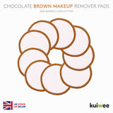 Brown Bamboo Cotton Makeup Remover Pads Washable (10)