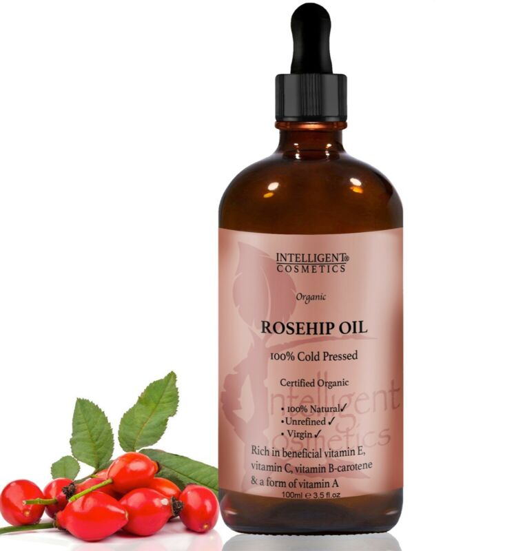 Rosehip Oil Certified Organic 100% Cold Pressed Pure & Natural Facial Oil