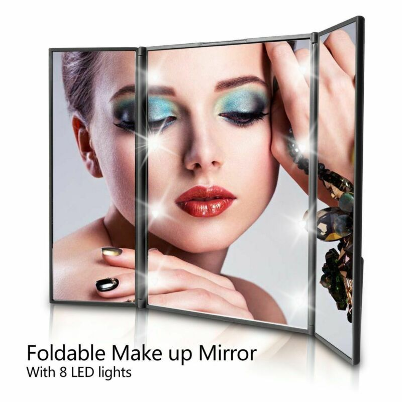 Portable Trifold Vanity Mirror with Light Stand (LED)