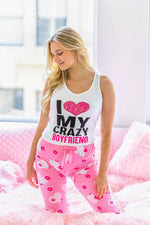 pajama set in pink color
