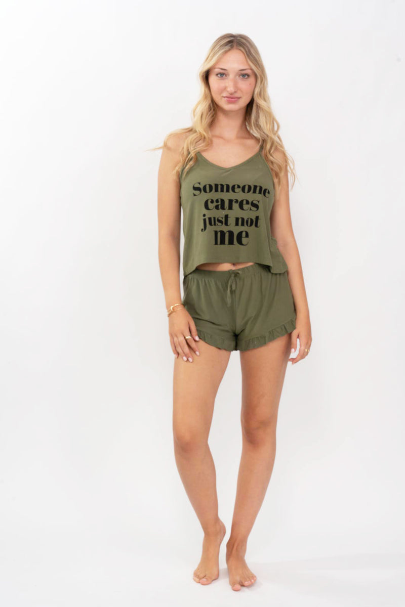 Army Short PJ Set