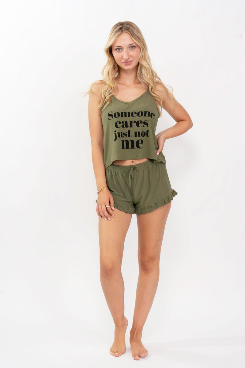 Army Short Pajama Set