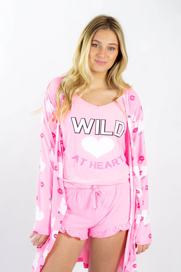 Pajama set with heart