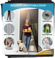 Load image into Gallery viewer, Magnetic Breathable Door - Let Fresh Air in But Keep Insects Out