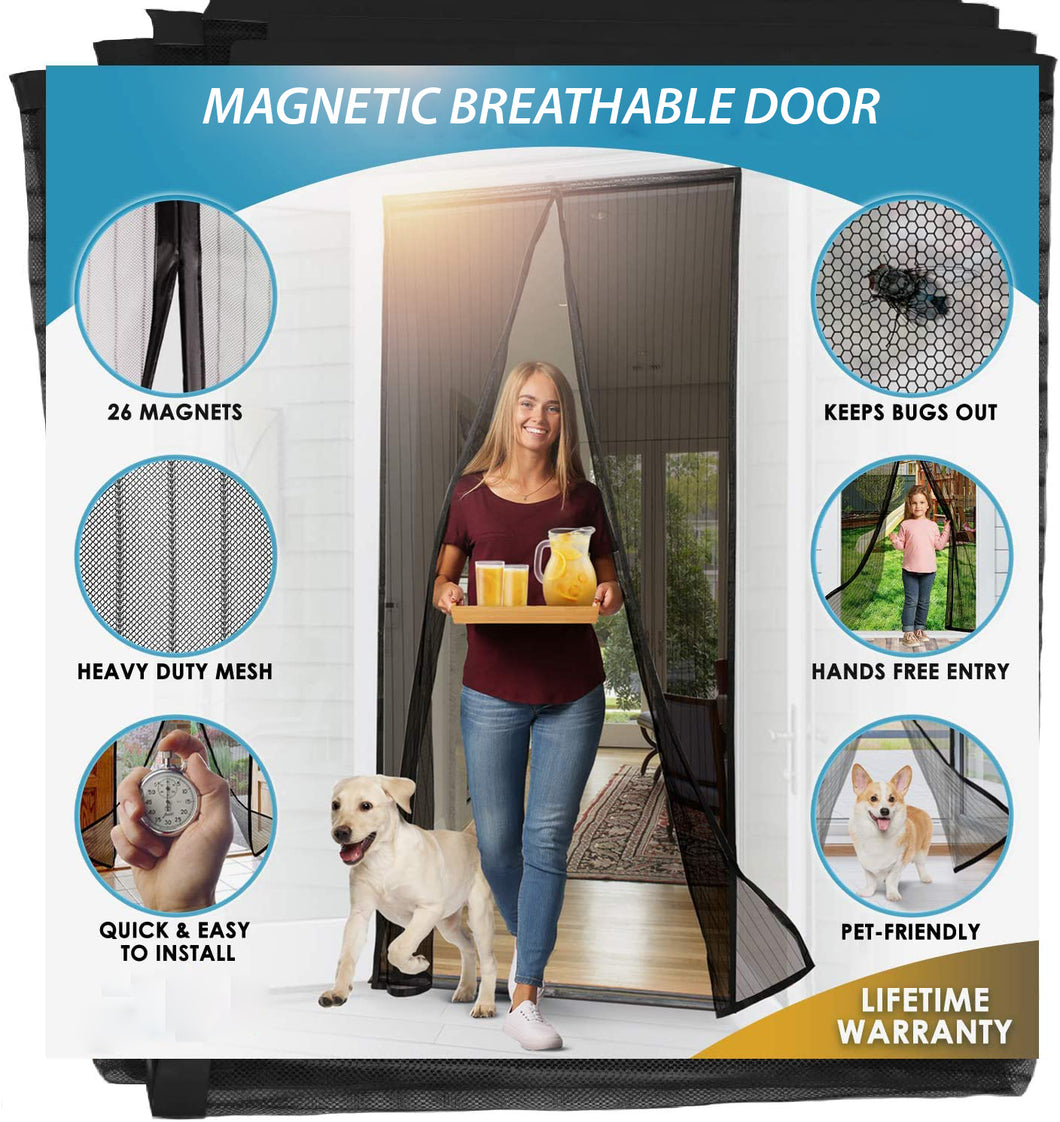 Magnetic Breathable Door - Let Fresh Air in But Keep Insects Out